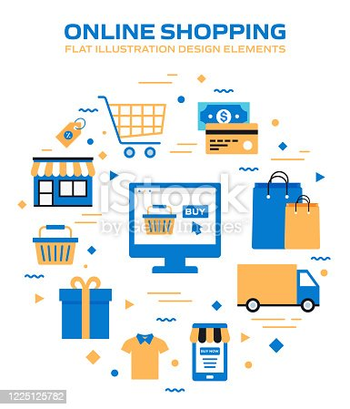 istock E-Commerce, Online Shopping, Digital Marketing Related Modern Vector Illustration 1225125782