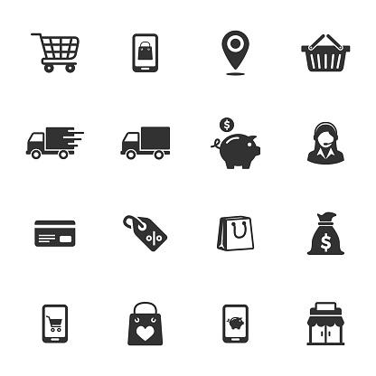 Ecommerce & shopping icons