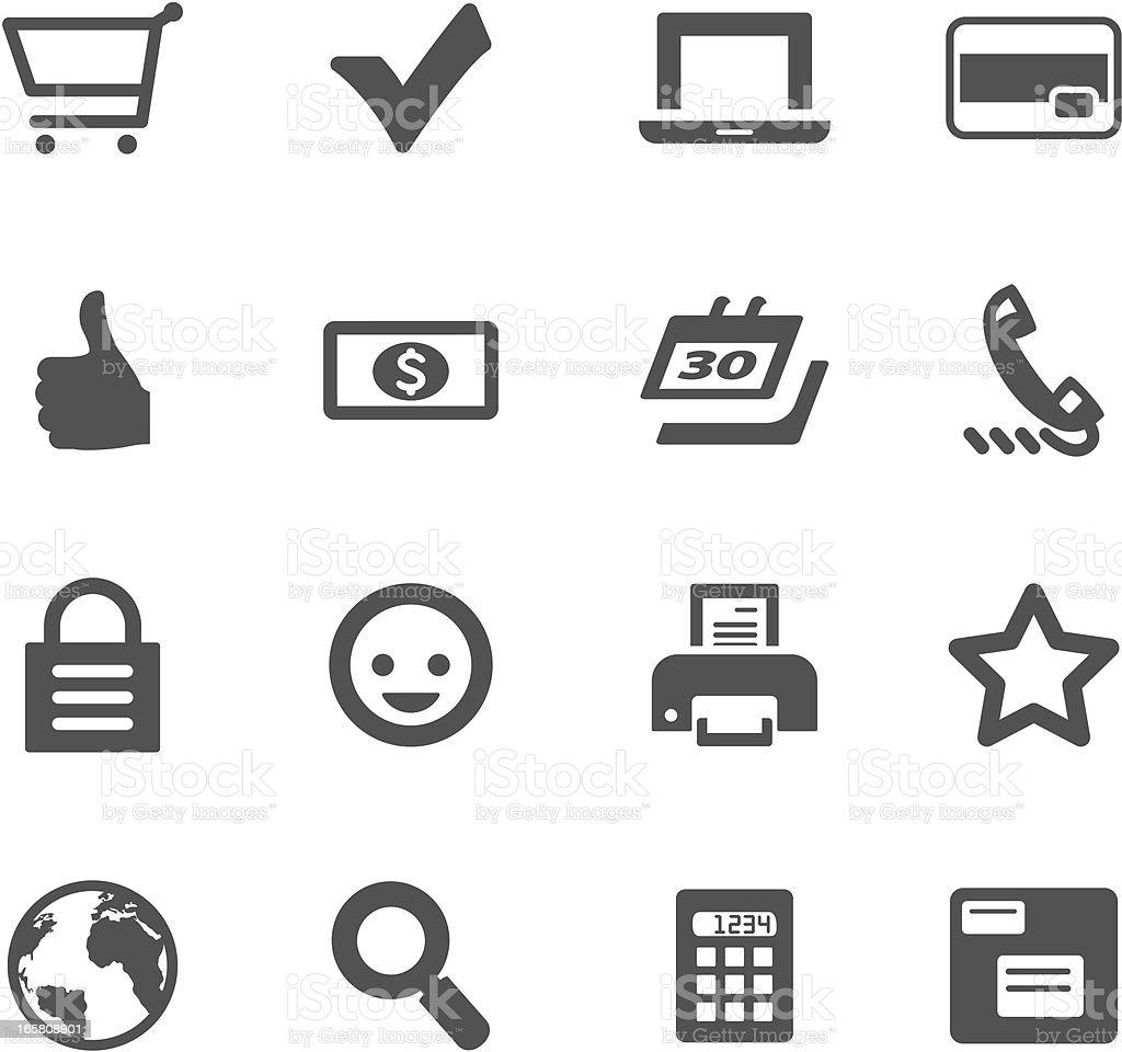 E-Commerce Symbols vector art illustration