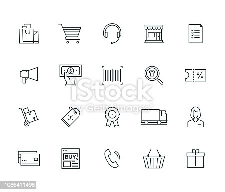 E-Commerce Thin Line Series