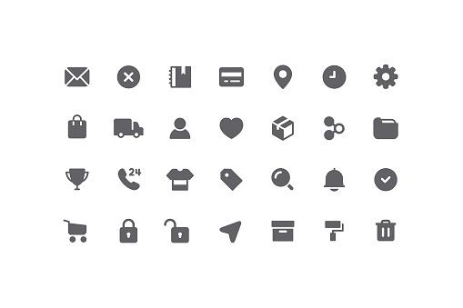 E-Commerce & User interface Ui Flat Icons