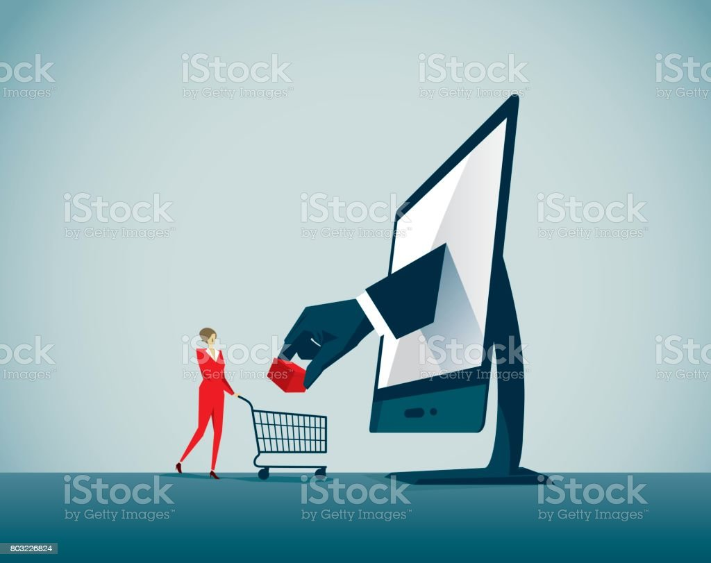 e-commerce vector art illustration