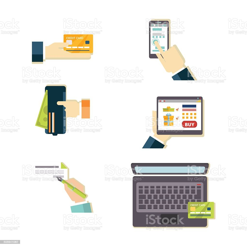 E-commerce Vector Illustration Set vector art illustration