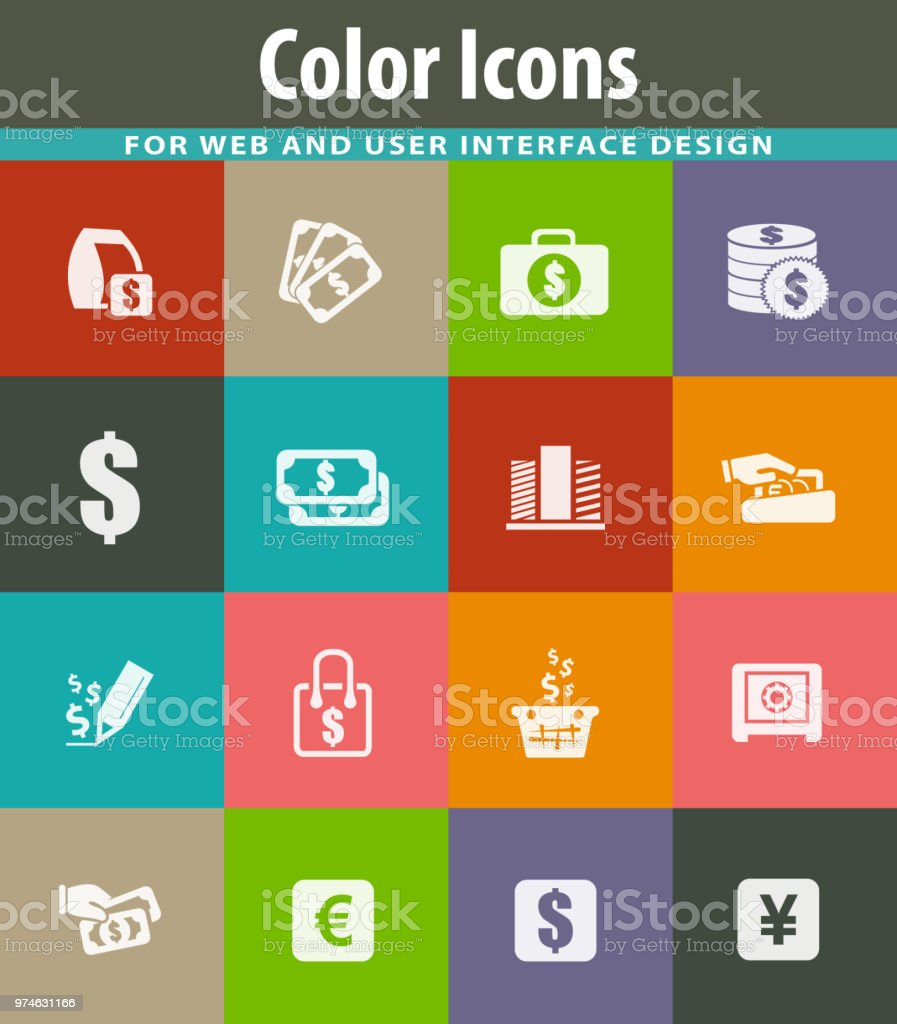 E-commers icons set vector art illustration