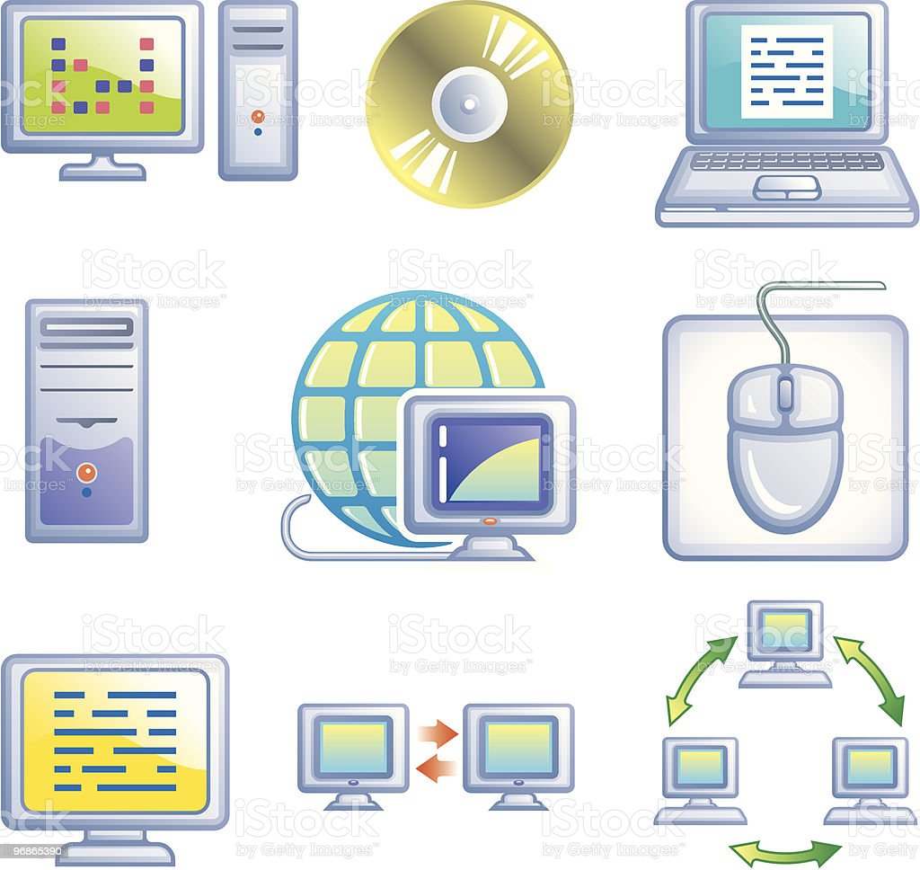 E-communications vector icons set royalty-free stock vector art