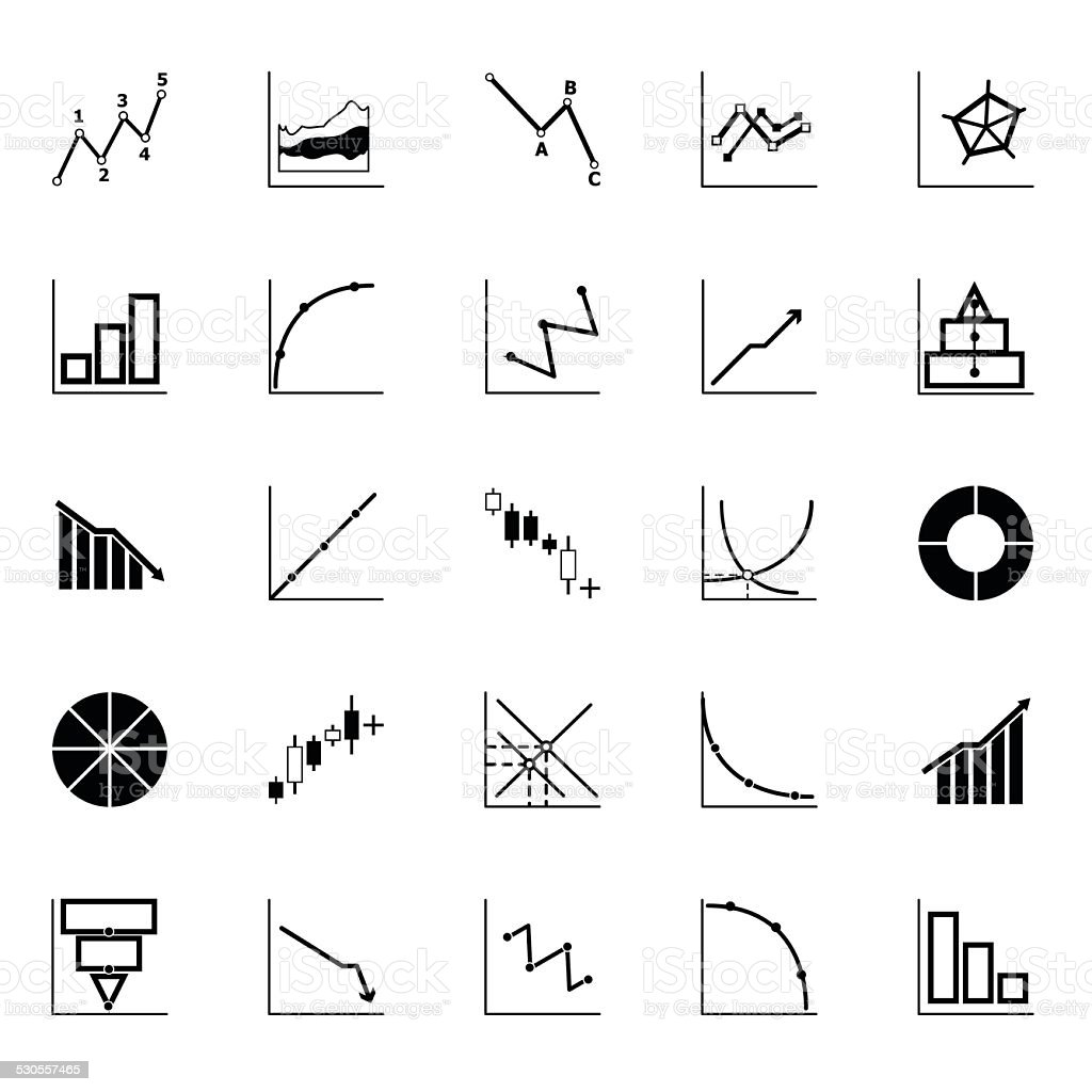Economic and investment diagram line icon on white background vector art illustration