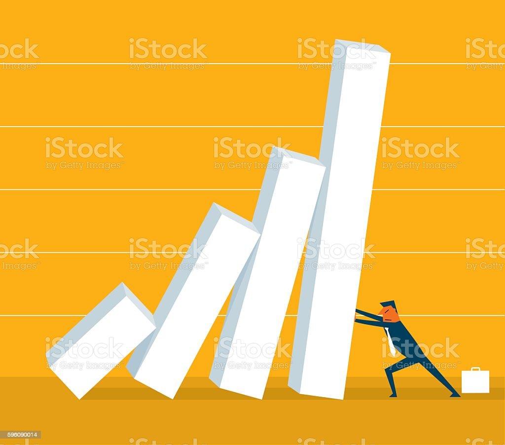 Wirtschaftliche Krise Lizenzfreies wirtschaftliche krise stock vektor art und mehr bilder von berufliche beschäftigung