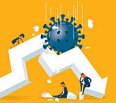 istock Economic Crisis - Viruses 1206218579