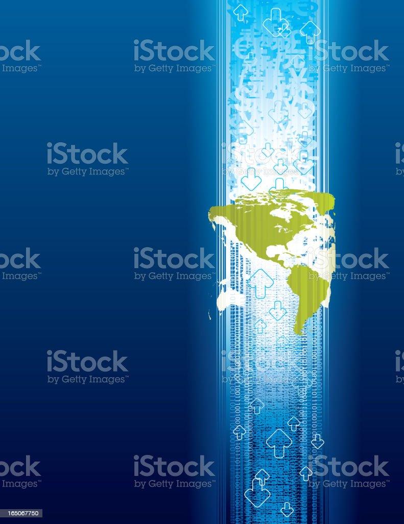 Economic Globalization - America royalty-free stock vector art