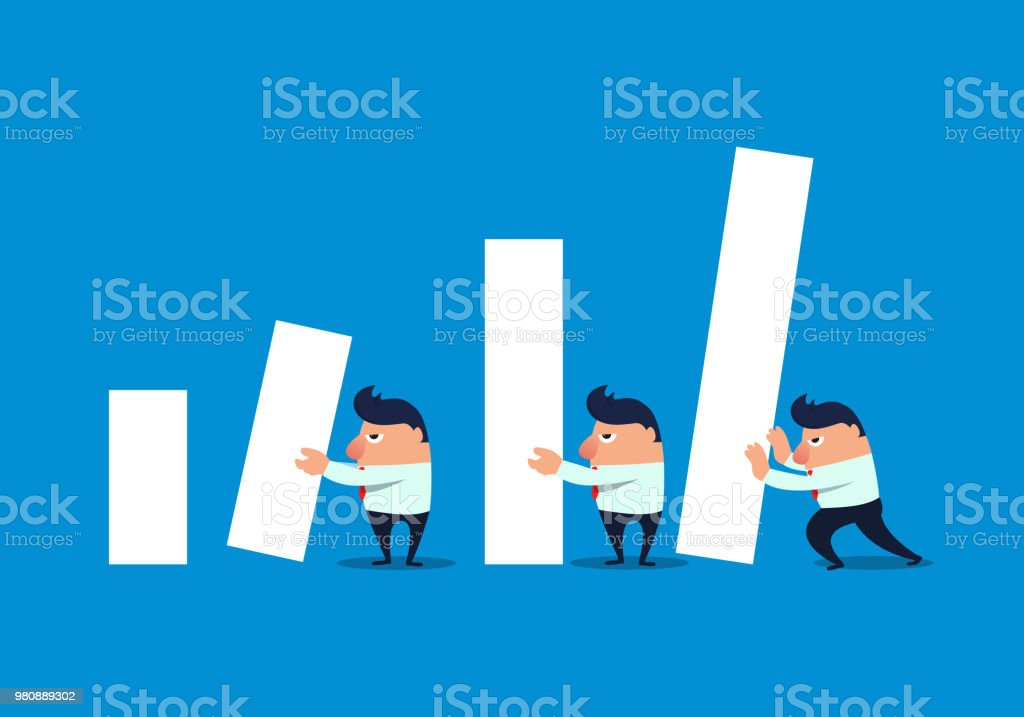 Economic Growth vector art illustration