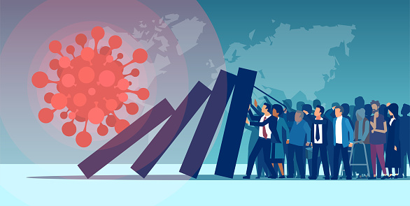 Economic impact and unemployment rise due to Coronavirus pandemic concept