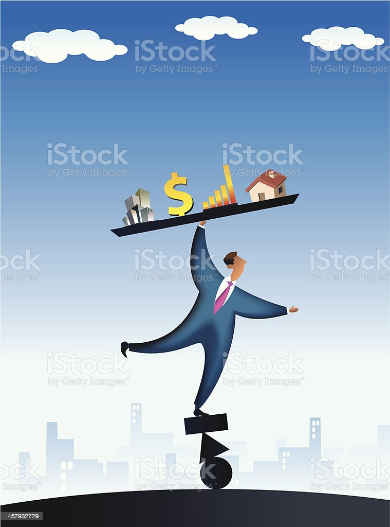 economic instability royalty-free stock vector art