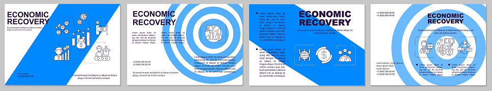 Economic recovery brochure template