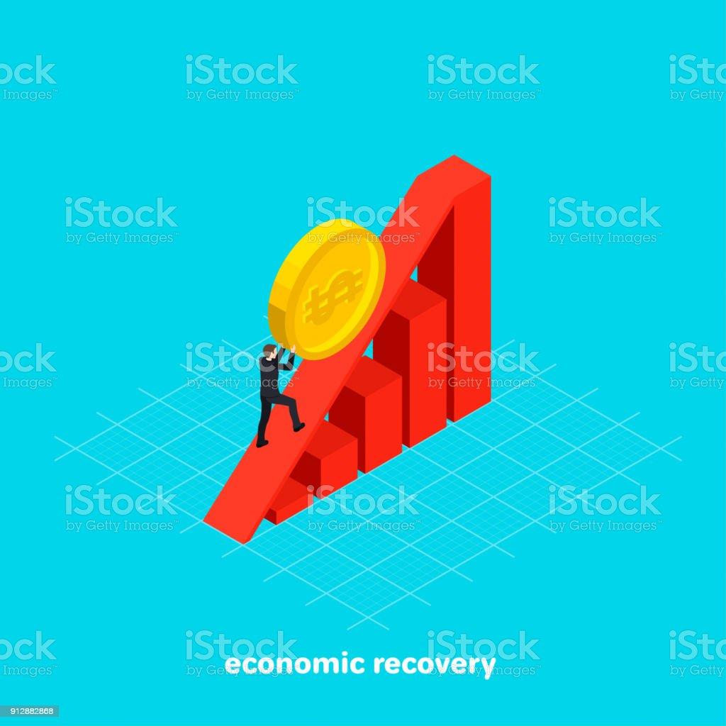 economic recovery vector art illustration