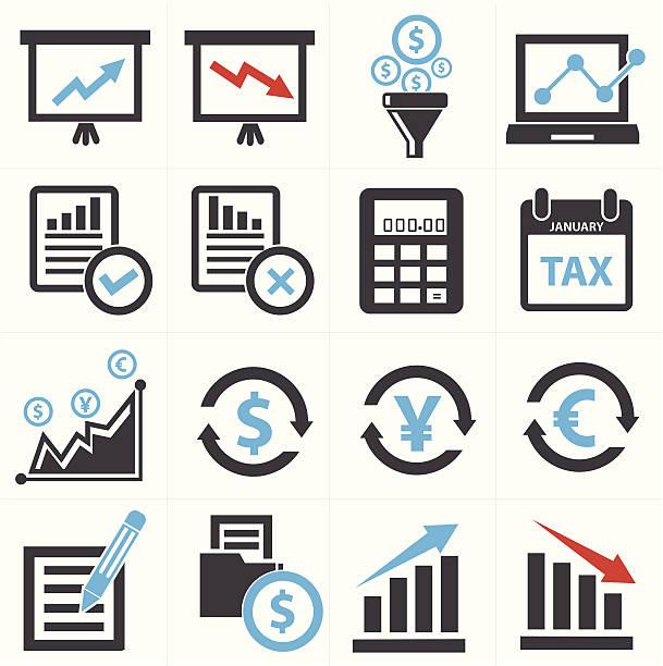 wirtschaft und finanzen-konzept-ikonen, vektor - messlatte stock-grafiken, -clipart, -cartoons und -symbole