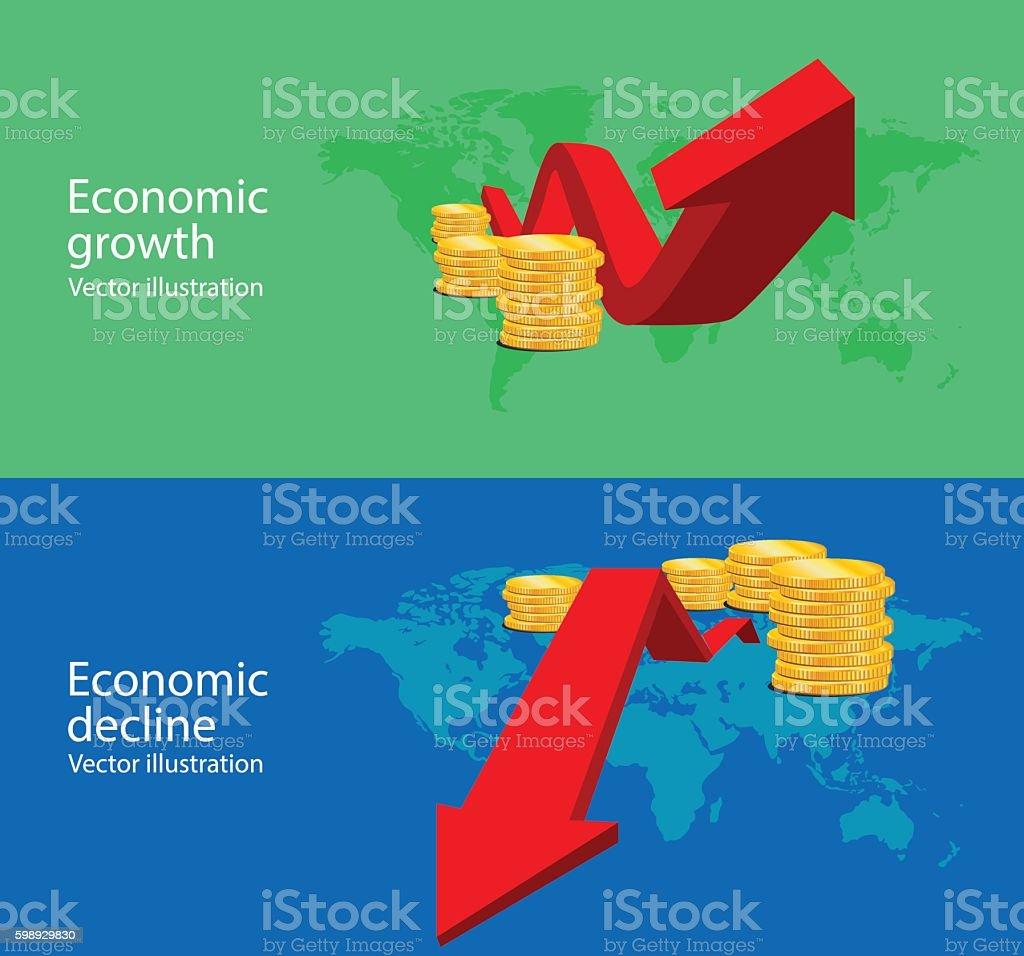 Economics vector art illustration