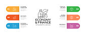 Economy and Finance Concept Infographic Template, Elements and Icons. Simple Vector Infographic Design