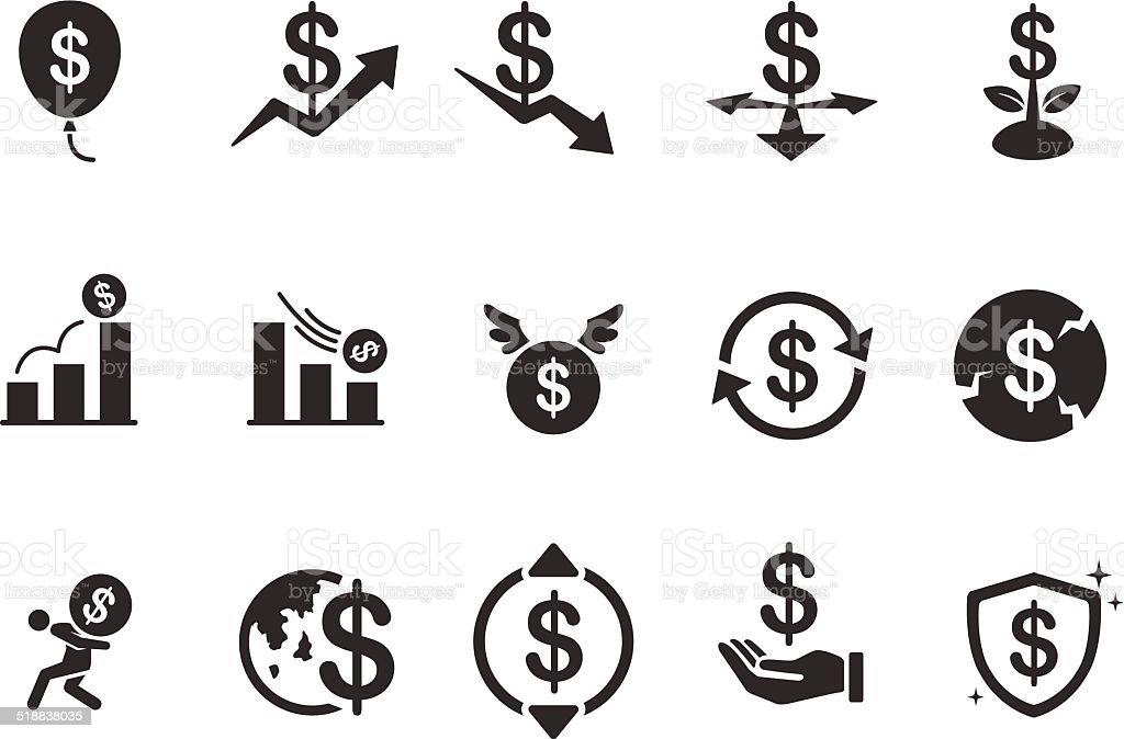 Economy icons - Illustration vector art illustration