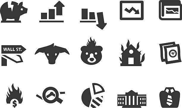 Iconos de economía - ilustración de arte vectorial