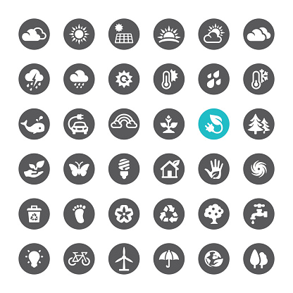 Ecosystem And Technology Vector Icons Stock Vector Art