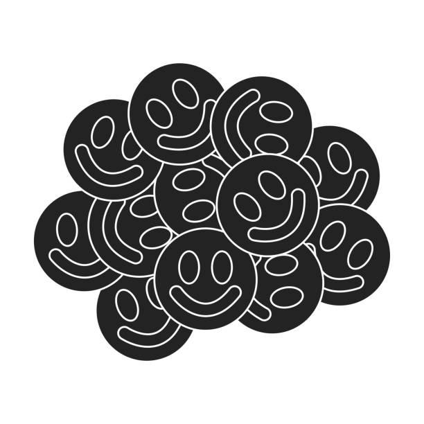 ekstase-symbol im schwarzen stil isoliert auf weißem hintergrund. drogen-symbol lager vektor-illustration. - methamphetamin stock-grafiken, -clipart, -cartoons und -symbole