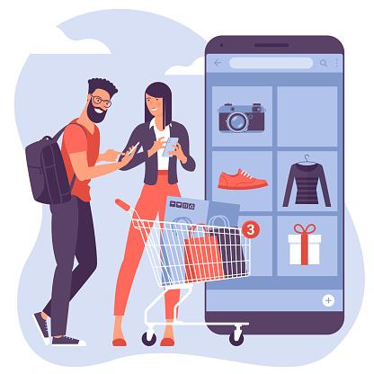 ector concept for mobile shopping