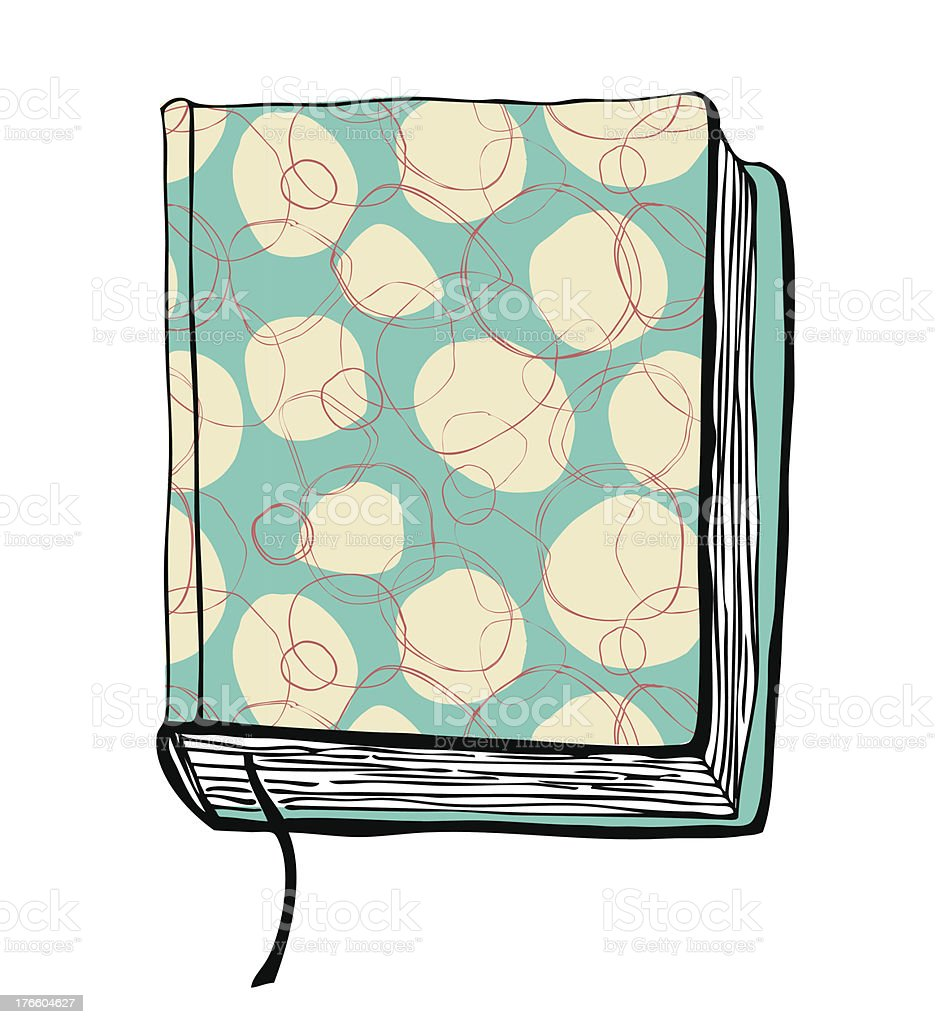 ector illustration with hand drawn turquoise cover royalty-free stock vector art