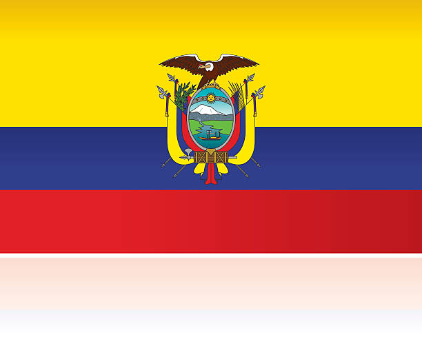ilustraciones, imágenes clip art, dibujos animados e iconos de stock de bandera ecuatoriana país, de américa del sur - bandera de ecuador
