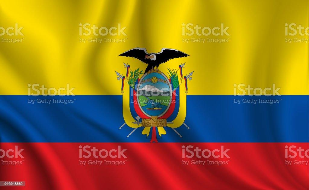 Fundo de bandeira do Equador - ilustração de arte em vetor