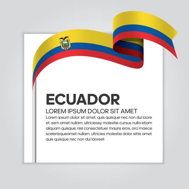 エクアドルの旗の背景 ベクターアートイラスト