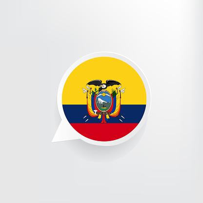 Ecuador Flag Speech Bubble