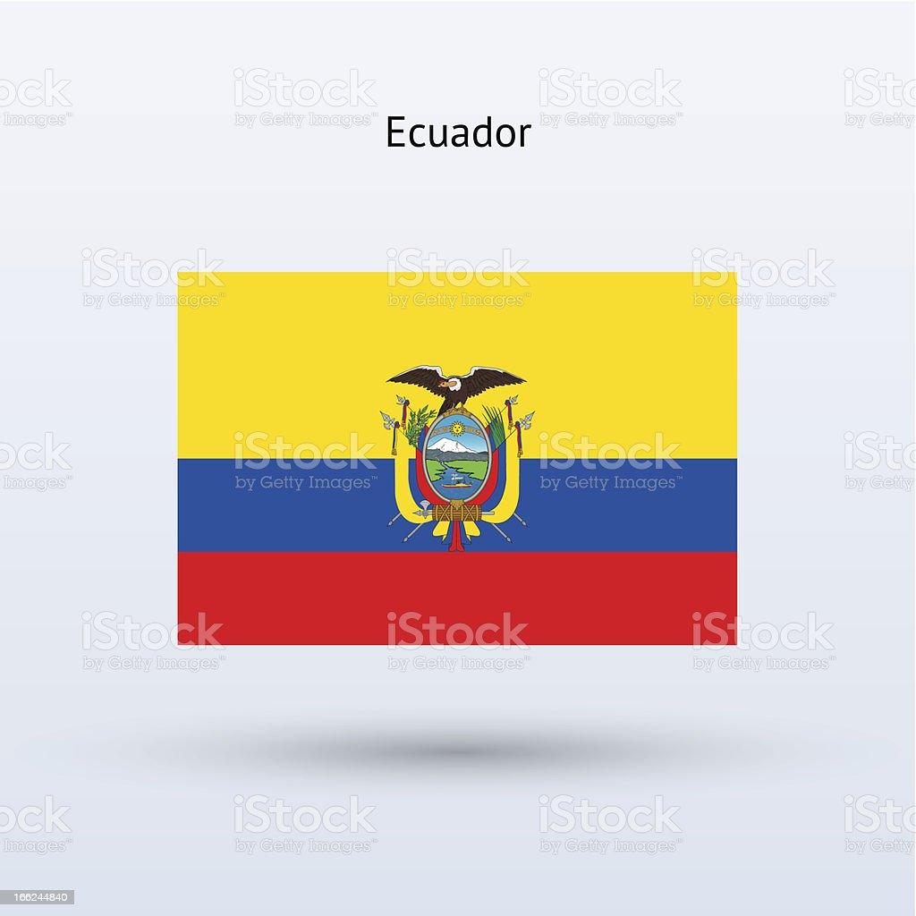 Ecuador Flag royalty-free stock vector art