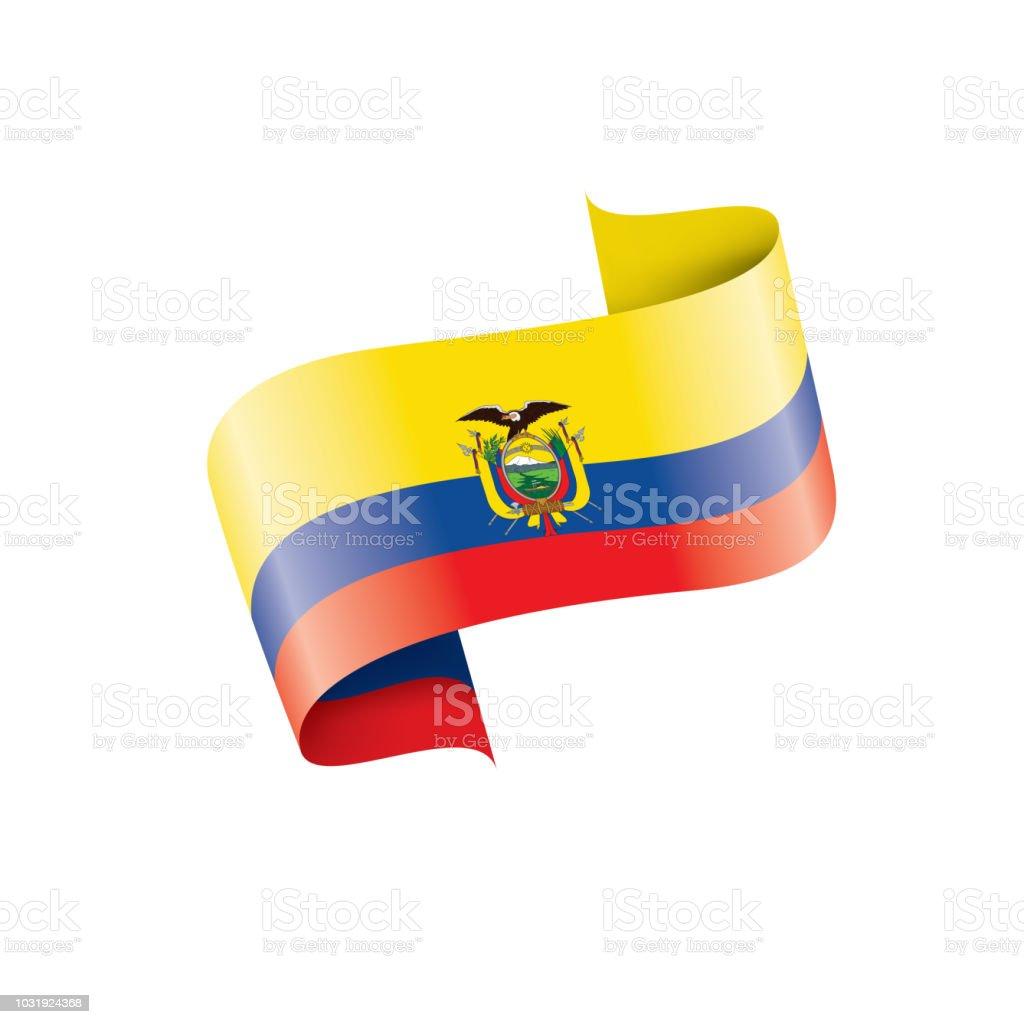 Ecuador flag, vector illustration on a white background vector art illustration