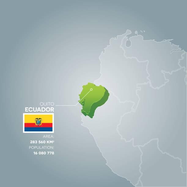 エクアドル情報マップです。 ベクターアートイラスト