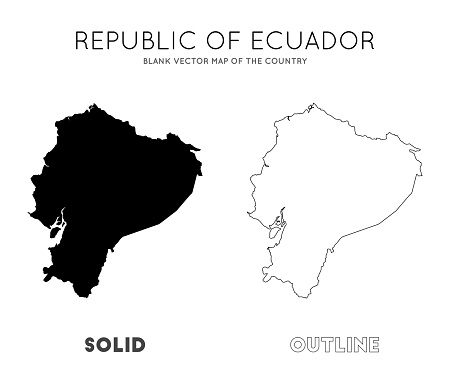 Ecuador map.