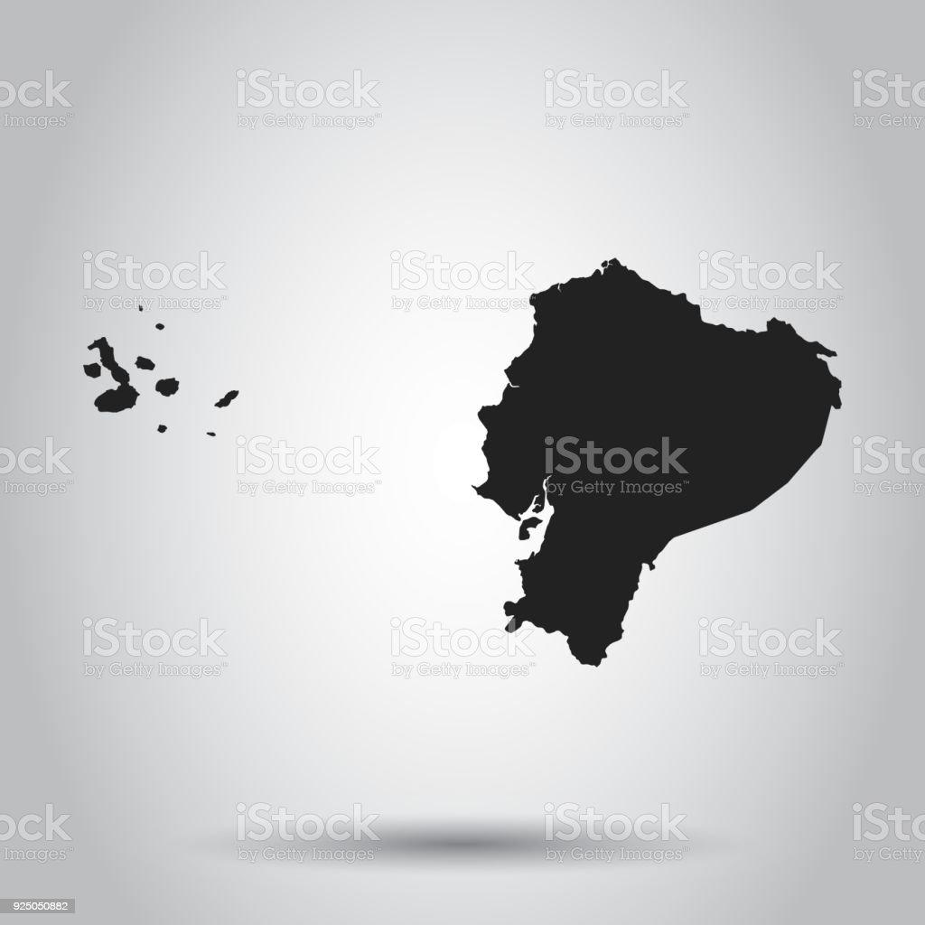 Where Is Ecuador Located On The World Map.Ecuador Vector Map Black Icon On White Background Stock Vector Art