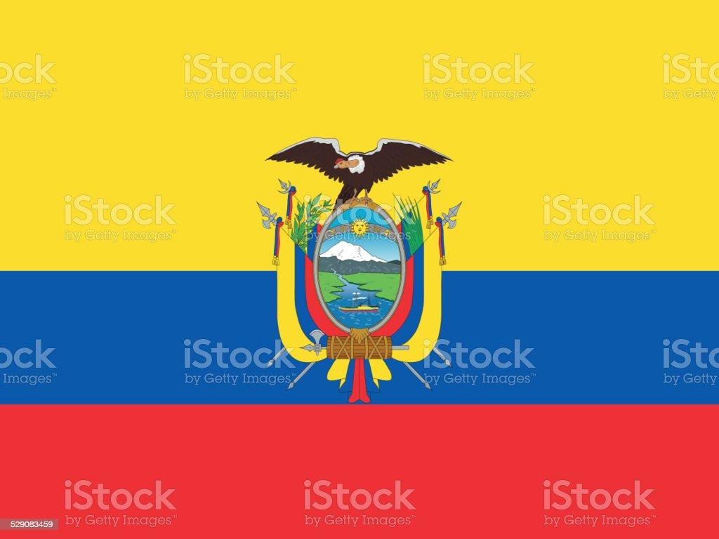 Ecuador_flag vector art illustration