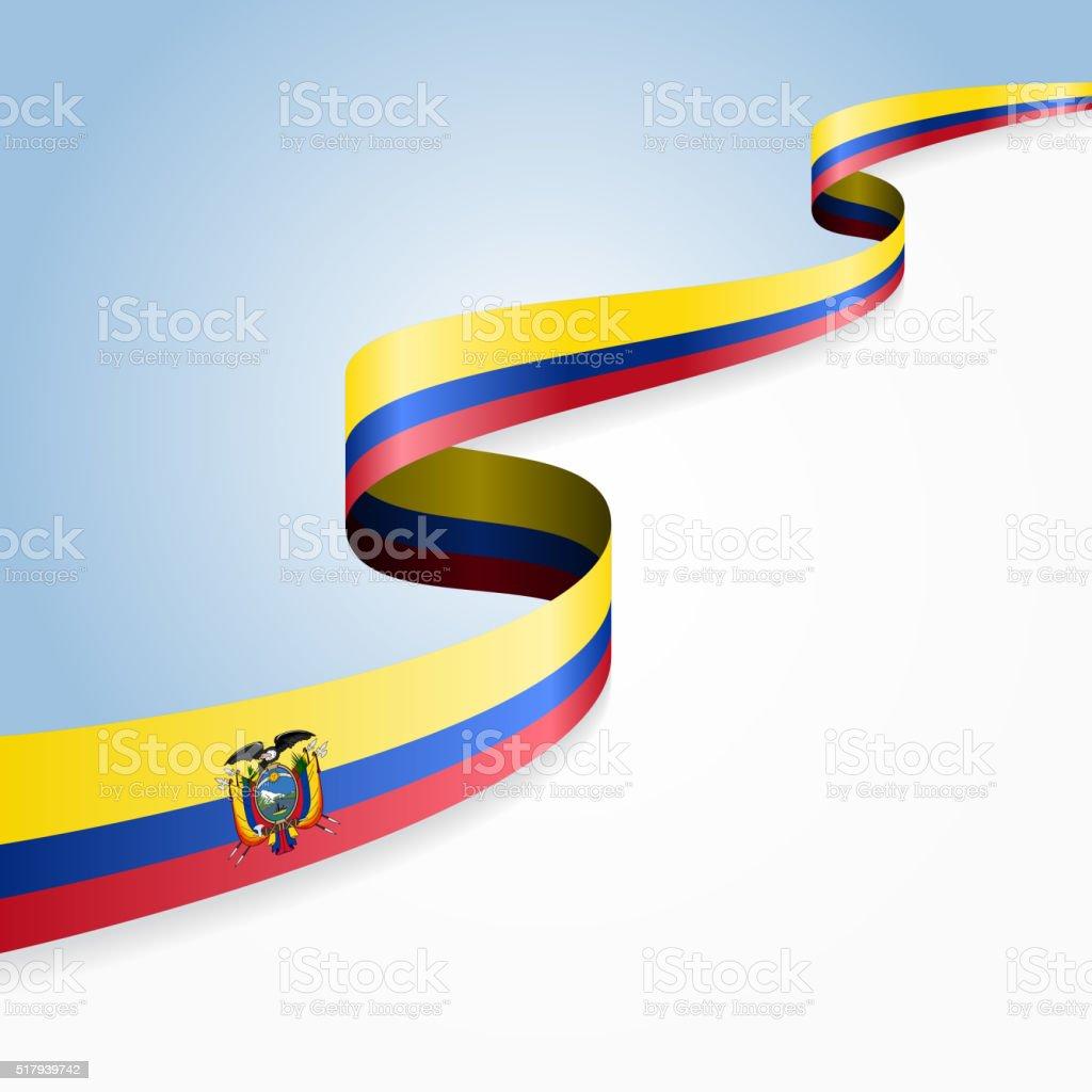 Fundo de Bandeira do Equador. Ilustração vetorial - ilustração de arte em vetor