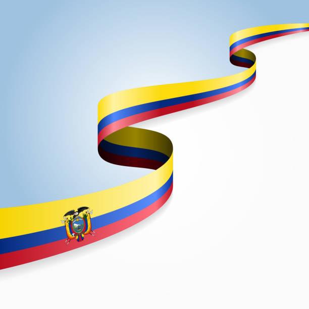 ilustraciones, imágenes clip art, dibujos animados e iconos de stock de bandera ecuatoriana fondo. ilustración vectorial - bandera de ecuador