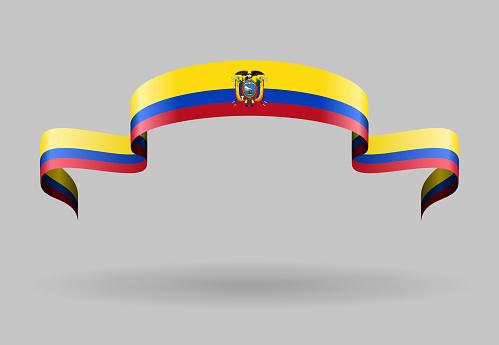 Ecuadorian flag background. Vector illustration.