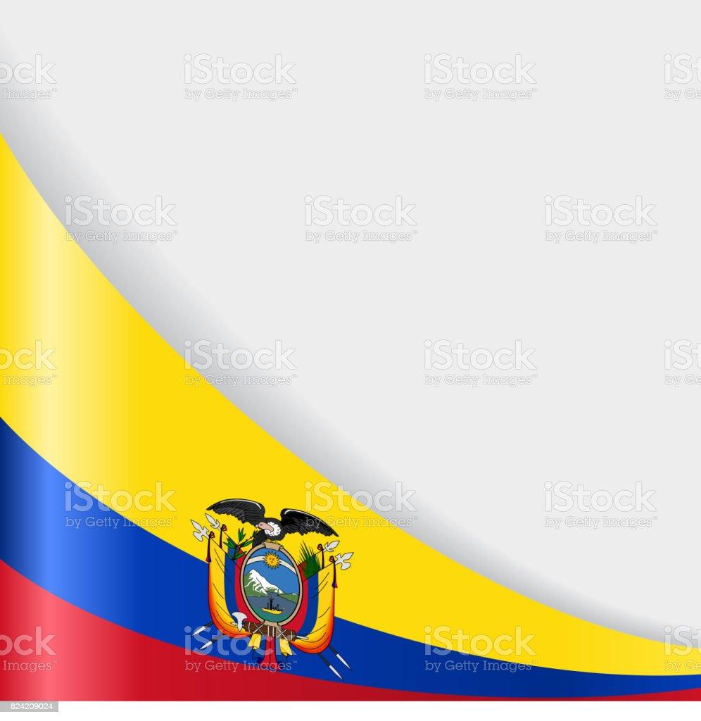 Fundo de Bandeira do Equador. Ilustração vetorial. - ilustração de arte em vetor