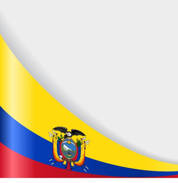 ecuadorianer flaggen-hintergrund. vektor-illustration. - flagge ecuador stock-grafiken, -clipart, -cartoons und -symbole