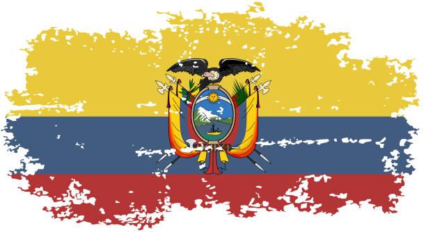 エクアドルグランジの国旗。ベクトルイラスト。 ベクターアートイラスト
