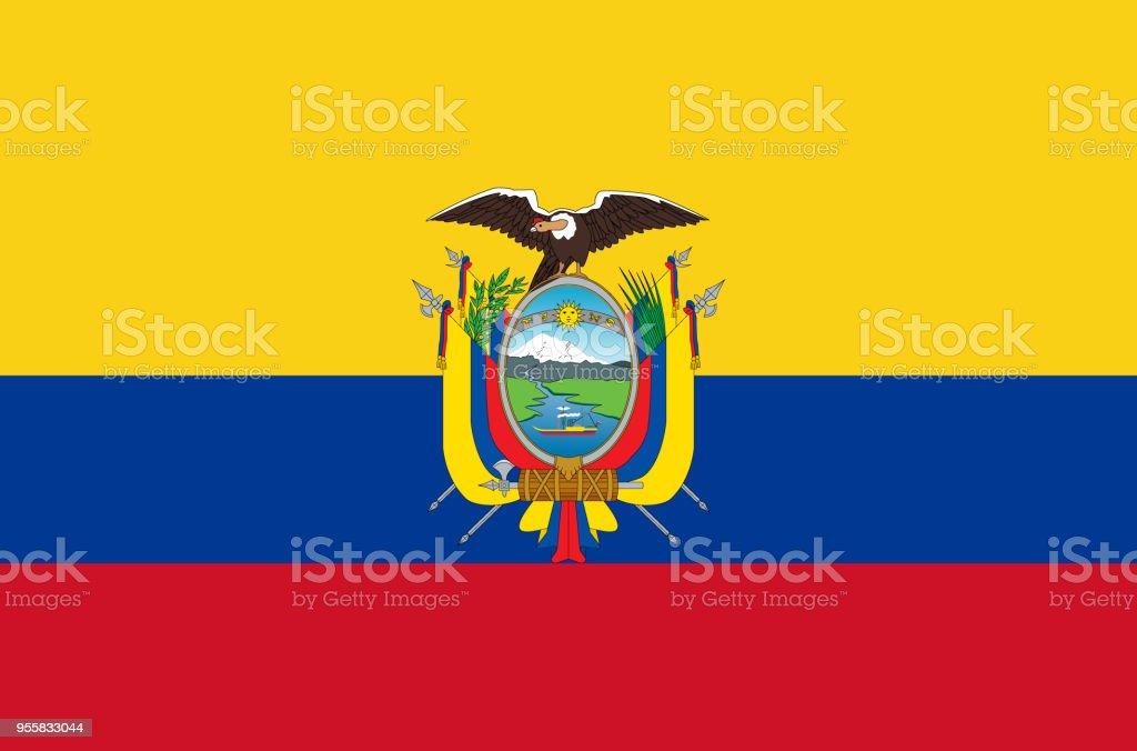 Bandera Nacional Ecuatoriana. Bandera oficial de colores exacta Ecuador ab5edf63a6343