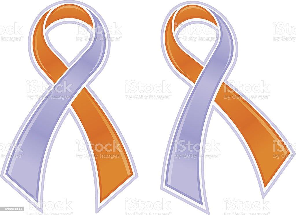 Eczema/Psoriasis Awareness Ribbon vector art illustration