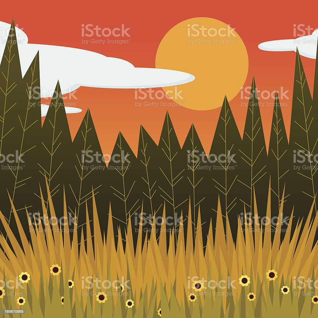 Edge of a Forest royalty-free edge of a forest stock vector art & more images of black-eyed susan