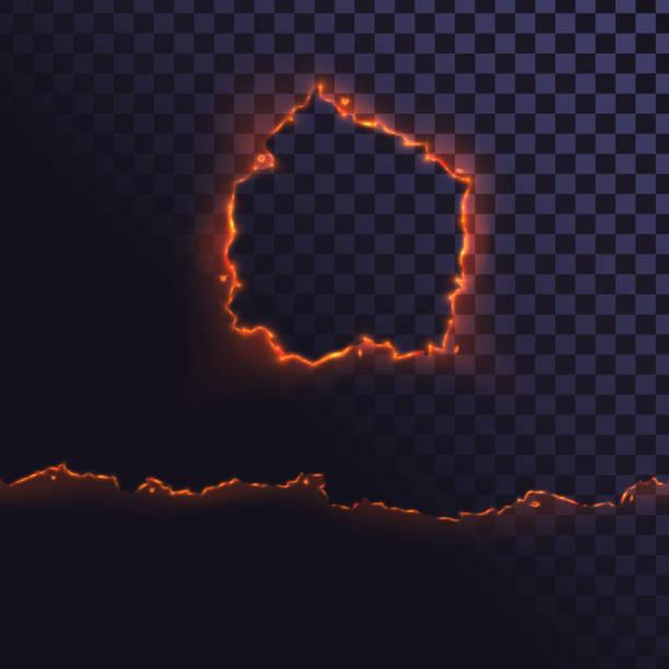ilustrações de stock, clip art, desenhos animados e ícones de edge of burning paper - queimado