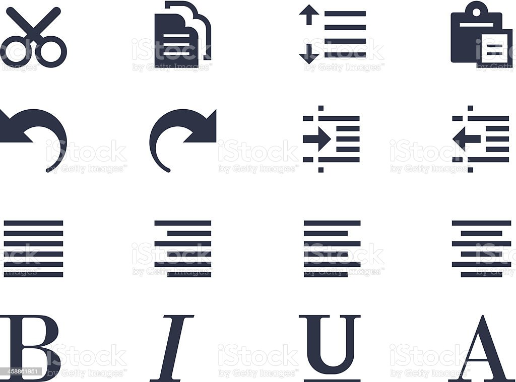 edit and formatting icons stock vector art more images of arrow