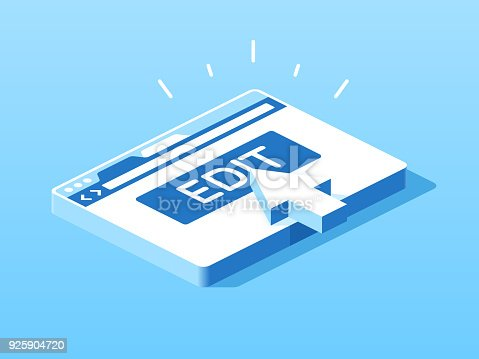 istock Edit Browser Window Isometric View 925904720