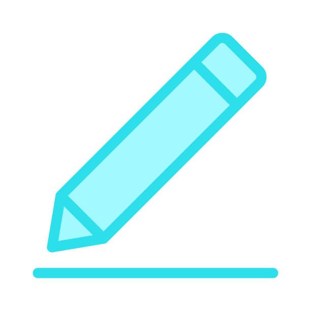 farbe linie vektor icon bearbeiten - korrekturlesen stock-grafiken, -clipart, -cartoons und -symbole